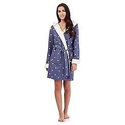 Iris & Edie - Blue star print sweat dressing gown
