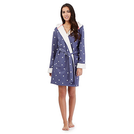 Iris Amp Edie Blue Star Print Sweat Dressing Gown Price