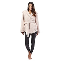 J by Jasper Conran - Pink fleece short dressing gown