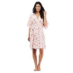 RJR.John Rocha - Pink floral print dressing gown