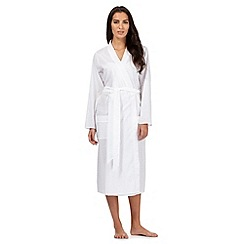 Lounge & Sleep - White broidery dressing gown