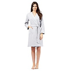 Lounge & Sleep - Grey textured spot dressing gown