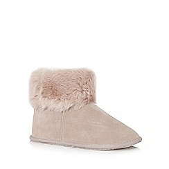RJR.John Rocha - Taupe leather slipper boot