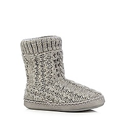 RJR.John Rocha - Grey gem embellished cable knit boots