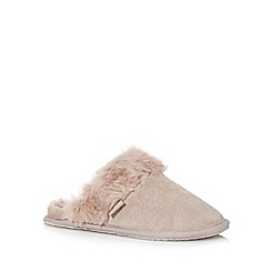 RJR.John Rocha - Taupe leather slipper shoe