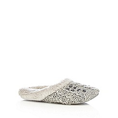 RJR.John Rocha - Grey gem embellished knitted mules