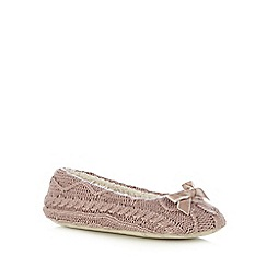 RJR.John Rocha - Natural cable knit ballet slippers