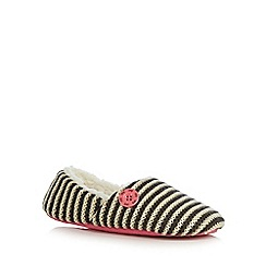 Iris & Edie - Grey striped mule slippers