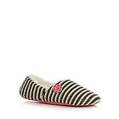 Iris & Edie - Grey striped mule slippers