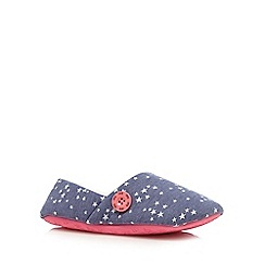 Iris & Edie - Blue star print mule slippers