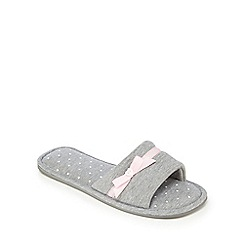 Lounge & Sleep - Grey spotted mule slippers