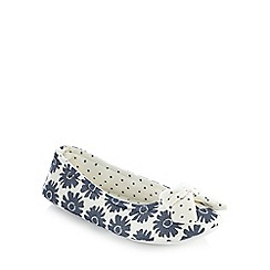Lounge & Sleep - Blue floral printed ballet pumps