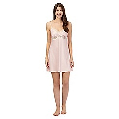The Collection - Pink satin lace trim chemise