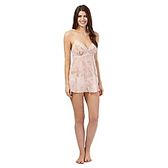 The Collection - Pink floral chiffon babydoll