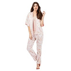 The Collection - Pink floral 3 piece pyjama set
