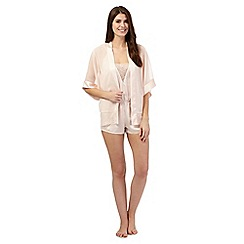 The Collection - Pale pink lace trim kimono