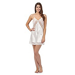 The Collection - Ivory satin lace trim chemise