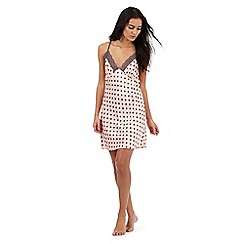 The Collection - Pink polka dot print chemise