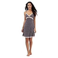The Collection - Grey polka dot print padded chemise