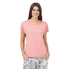 Mantaray - Dark peach short sleeve pyjama top