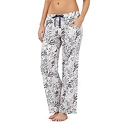 Mantaray - Ivory ocean print pyjama bottoms