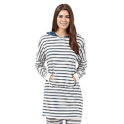 Mantaray - Grey striped long pyjama lounger