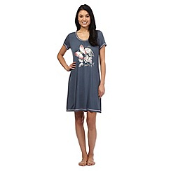 Gorgeous DD+ - Dark grey butterfly print sleep tee