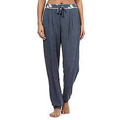Gorgeous DD+ - Dark grey butterfly waistband pyjama bottoms