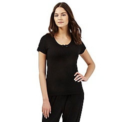 Gorgeous DD+ - Black hidden support pyjama top