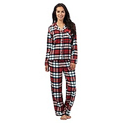 Lounge & Sleep - Red checked print pyjama set