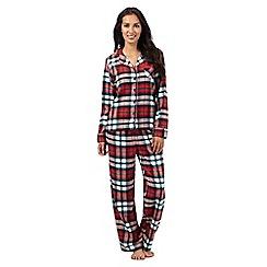 Lounge & Sleep - Red checked print pyjama set