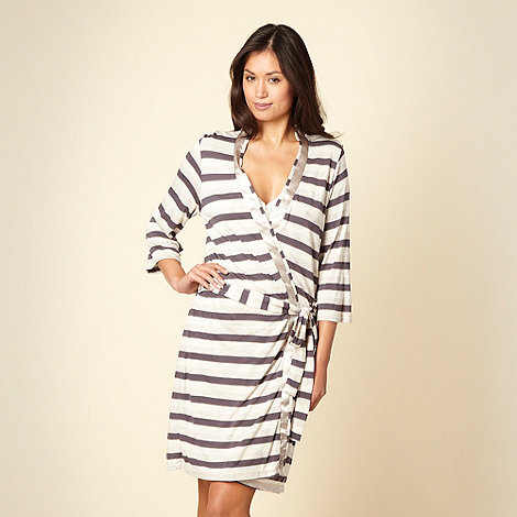 J by Jasper Conran - Beige striped jersey wrap
