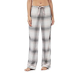RJR.John Rocha - Grey and pink checked print pyjama bottoms
