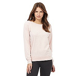 RJR.John Rocha - Pink mark lace shoulder pyjama top