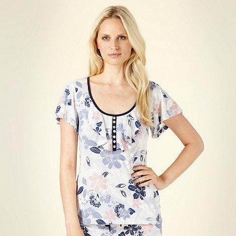 RJR.John Rocha - Blue sketched floral pyjama top