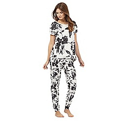 RJR.John Rocha - Grey floral print pyjama set