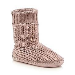 RJR.John Rocha - Pink knitted slipper boots