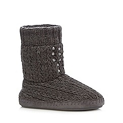 RJR.John Rocha - Grey embellished slipper boots