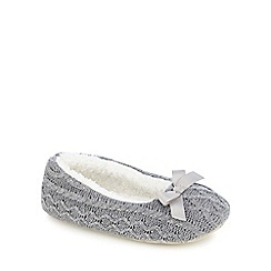 RJR.John Rocha - Grey cable knit ballet slippers