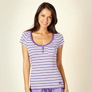 Purple alternating striped pyjama top