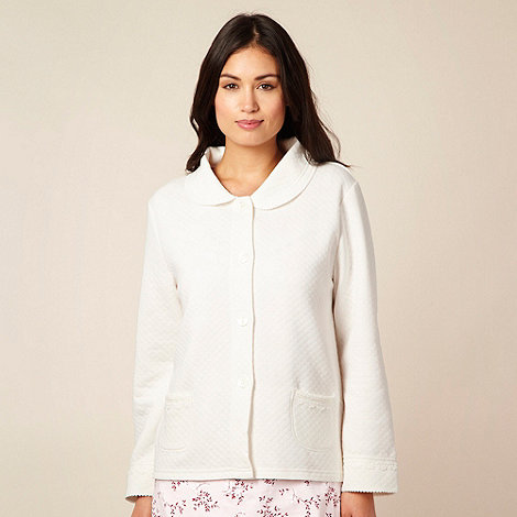Debenhams Classics - Cream quilted bed jacket