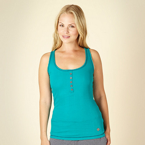 Iris & Edie - Designer turquoise ribbed pyjama vest