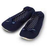 Navy Jersey Ballet Slippers