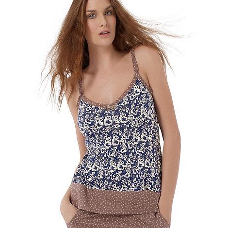 Freya - Blue floral fuller bust camisole