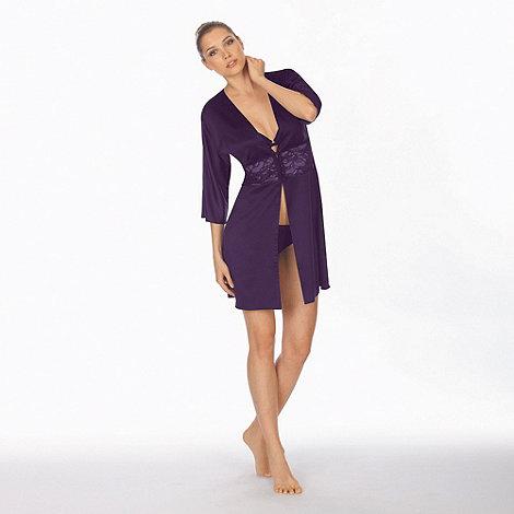 Triumph - Purple satin dressing gown