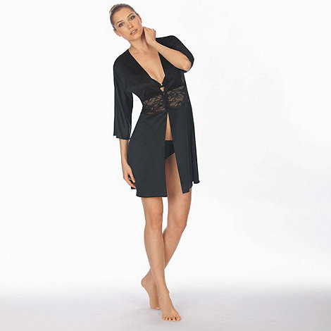 Triumph - Black satin dressing gown