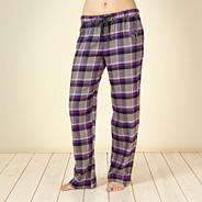 Purple brushed checked pyjama bottoms