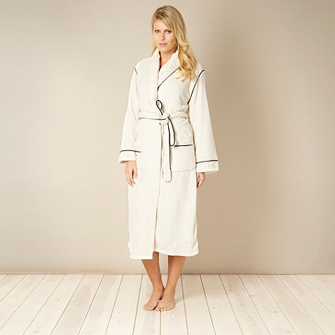 DKNY - Cream piped fleece gown