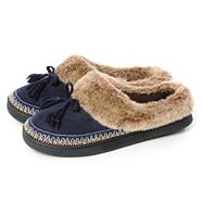 Navy 'Pillowstep' Suedette Moccasins