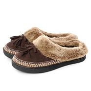 Chocolate Brown 'Pillowstep' Suedette Moccasins